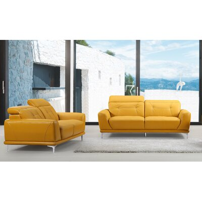 Morden 3 Piece Living Room Set Color: Gold