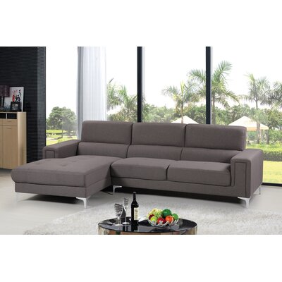 Sectional Upholstery: Gray, Orientation: Left Hand Facing