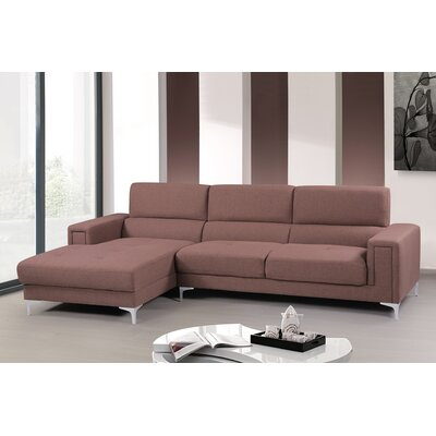 Modular Sectional Upholstery: Coffee, Orientation: Left Hand Facing