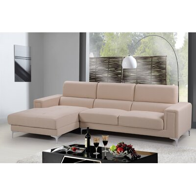 Sectional Upholstery: Beige, Orientation: Left Hand Facing