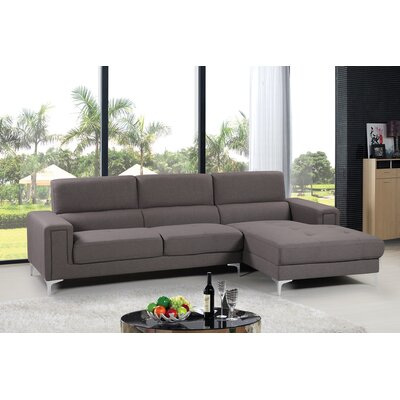Modular Sectional Upholstery: Gray, Orientation: Right Hand Facing