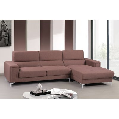 Modular Sectional Upholstery: Coffee, Orientation: Right Hand Facing
