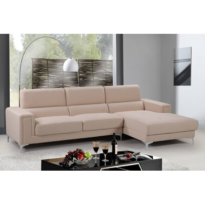 Modular Sectional Upholstery: Beige, Orientation: Right Hand Facing