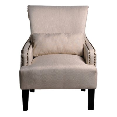 Upholstered Arm Chair Upholstery: Beige
