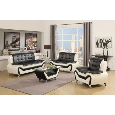 Container S5067-3PC+CT Wanda 4 Piece Living Room Set