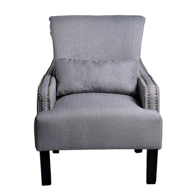 Upholstered Arm Chair Upholstery: Gray