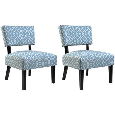 Abstract Side Chair Color: Blue