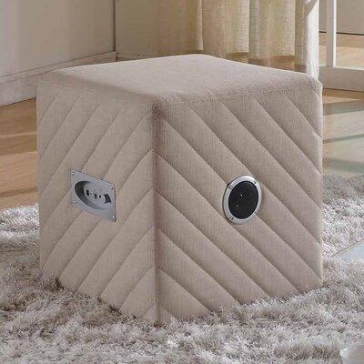 Cube Ottoman Color: Beige