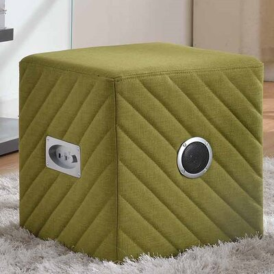 Upholstered Ottoman Color: Green