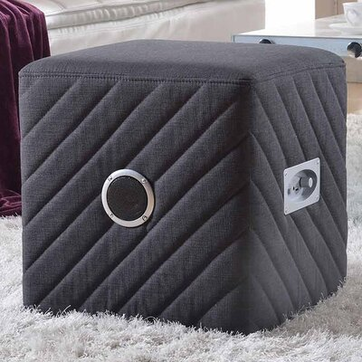 Upholstered Ottoman Color: Gray