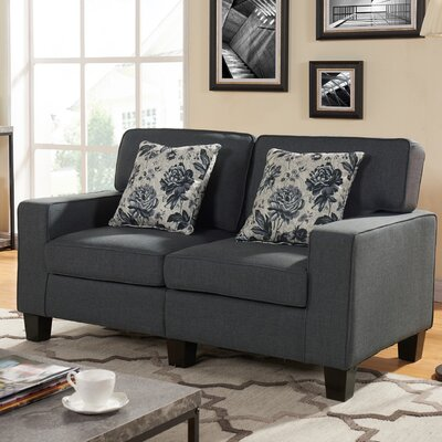 Loveseat Color: Dark Gray