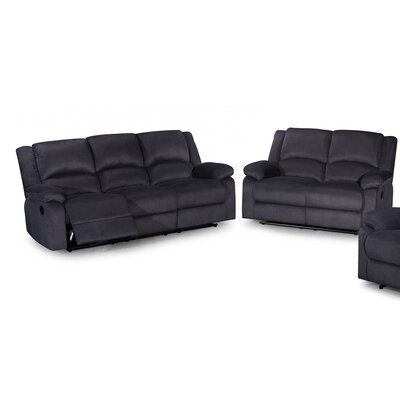 2 Piece Living Room Set Color: Dark Gray