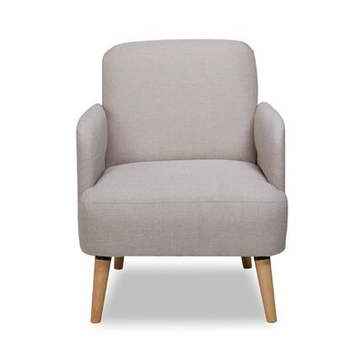 Accent Armchair Color: Light Brown