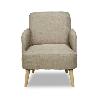 Accent Armchair Color: Camel