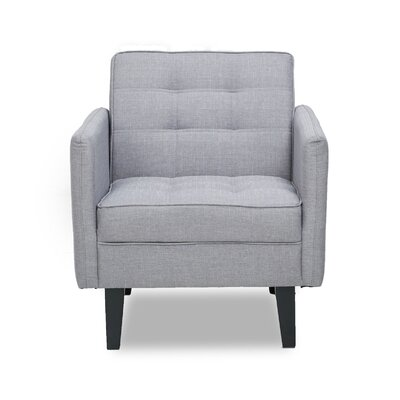 Accent Armchair Upholstery: Light Gray