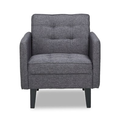Accent Armchair Upholstery: Dark Gray