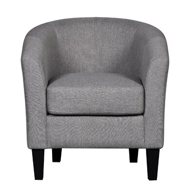 Barrel Chair Upholstrey: Grey