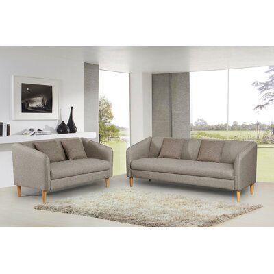 Sofa and Loveseat Set Color: Gray Brown