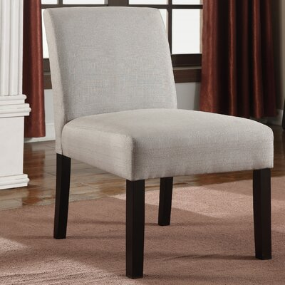 Slipper Chair Upholstery: Light Gray