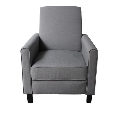 Fabric Manual Recliner Color: Dark Gray