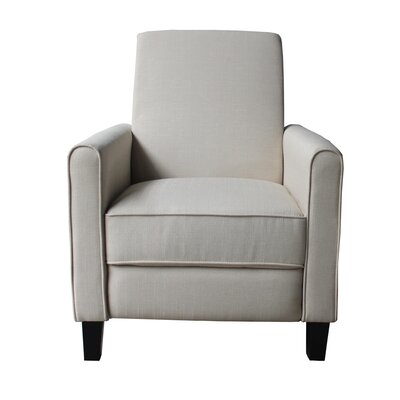 Fabric Manual Recliner Color: Light Beige