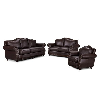 3 Piece Scrolled Living Room Set