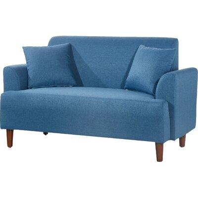 Modern Style Loveseat Upholstery: Blue
