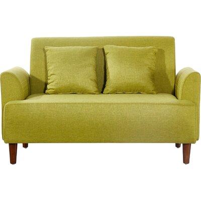 Modern Style Loveseat Upholstery: Green