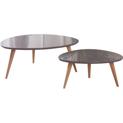 Isabella 2 Piece Coffee Table Set Finish: Grey