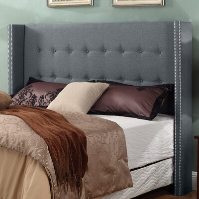 Upholstered Panel Headboard Finish: Gray