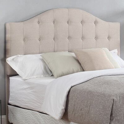 Upholstered Panel Headboard Finish: Beige