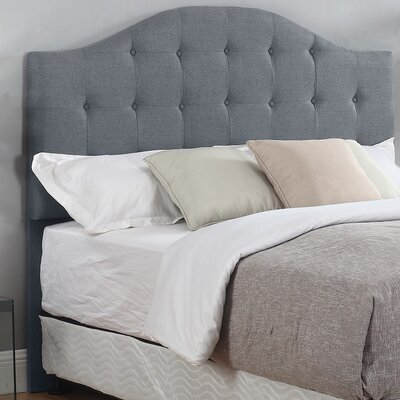 Seger Upholstered Panel Headboard Color: Gray