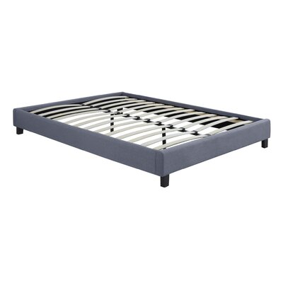 Hadwen Platform Bed Size: Full, Color: Grey Linen Fabric