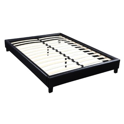 Hadwen Platform Bed Size: Queen, Color: Black Faux Leather