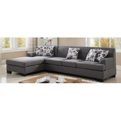 Container S0073-2PC Reversible Chaise Sectional Upholstery