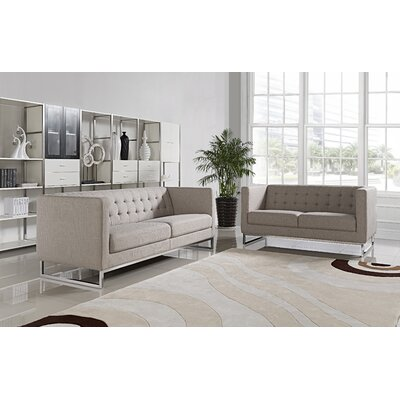 Dona 2 Piece Sofa and Loveseat Set