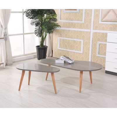 Sara 2 Piece Coffee Table Set Color: Grey