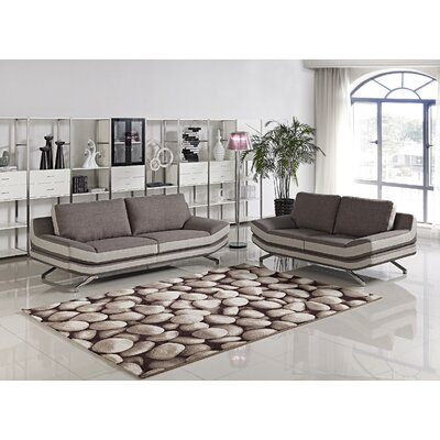 Container S5028-2PC Juian 2 Piece Sofa and Loveseat Set