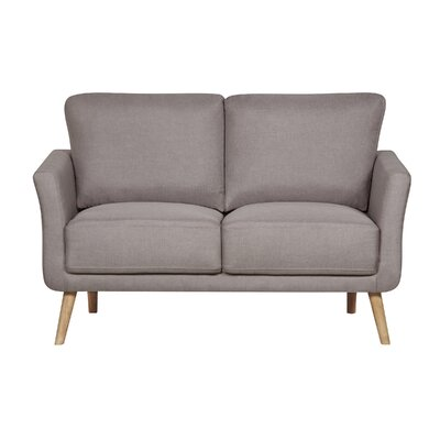 Modern Fabric Loveseat Upholstery : Brown