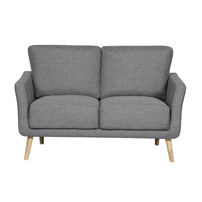 Modern Fabric Loveseat Upholstery : Gray