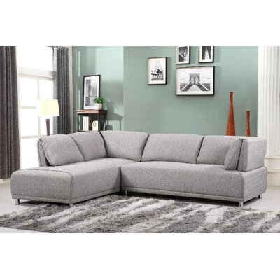 Sectional Upholstery: Brown Gray, Orientation: Left Hand Facing