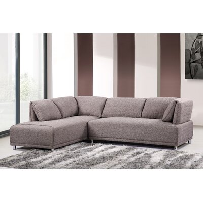 Sectional Upholstery: Light Brown, Orientation: Left Hand Facing