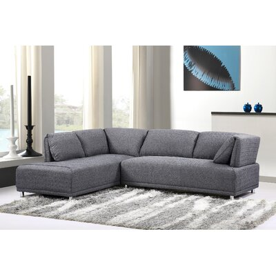 Sectional Upholstery: Gray, Orientation: Right Hand Facing
