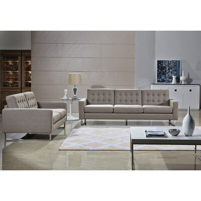 Angela Sofa, Loveseat and Chair Set Color: Cappuccino