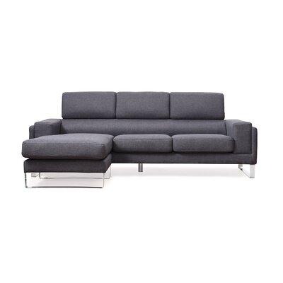 Reversible Sectional Upholstery: Gray
