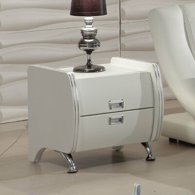Victoria 2 Drawer Nightstand Color: White