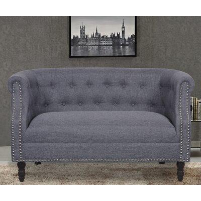 Loveseat Upholstery: Dark Gray