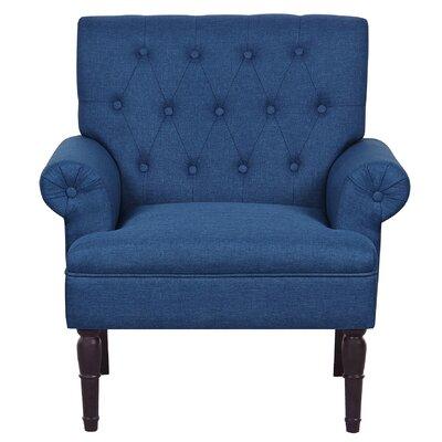Upholstered Arm Chair Upholstery: Ocean Blue