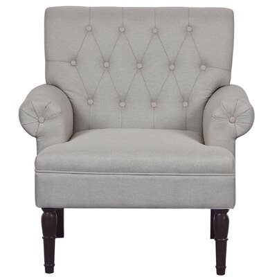 Upholstered Armchair Upholstery: Beige