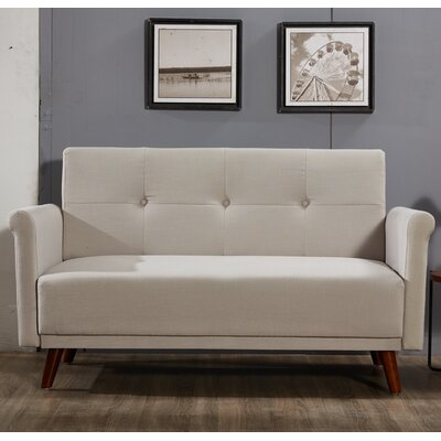Loveseat Upholstery: Tan
